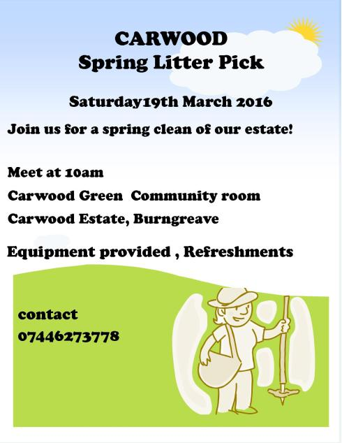 carwood litter pick flyer 2