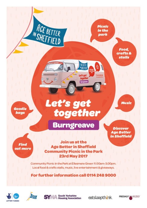 Age Better in Sheffield Picnic in the Park Burngreave 23rd May