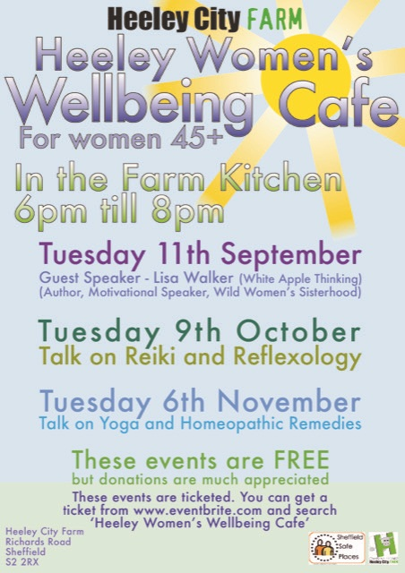 Womens Wellbeing Cafe at Heeley City Farm from September 2018