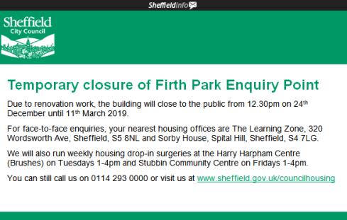 Firth Park Library Closure