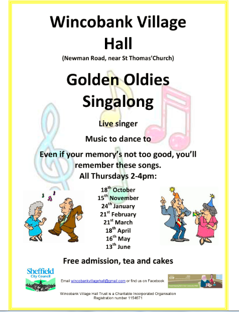 wincobank village hall golden oldies