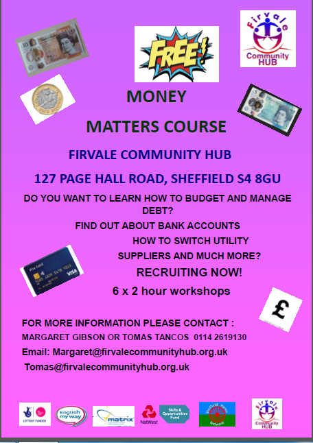 firvale Community Hub money matters