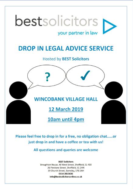 Village Hall free legal advice