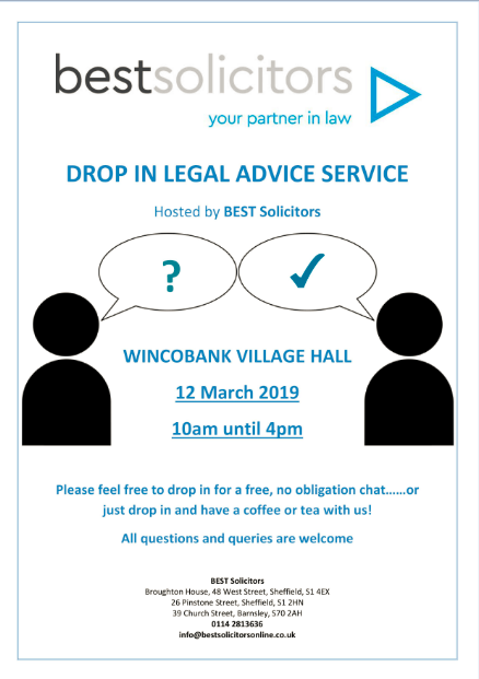 Village Hall free legal advice