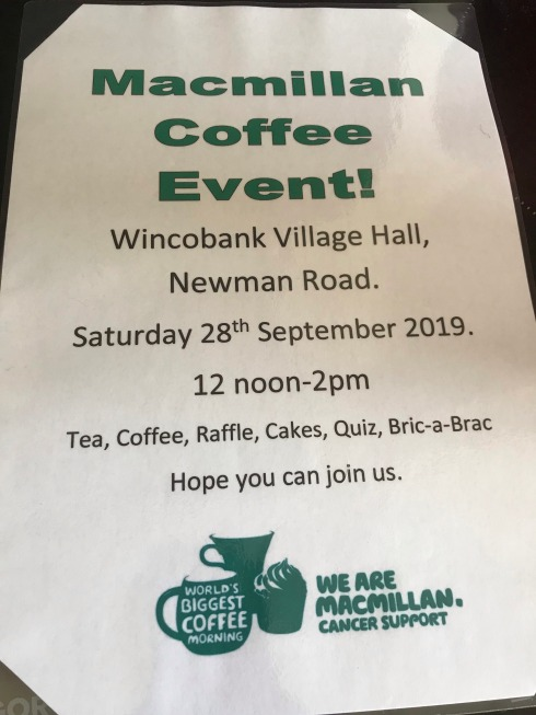 MacMillan Coffee Morning - 2019